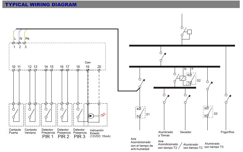 tarjeta clave  ventana ocupaci u00f3n pir motion detector module
