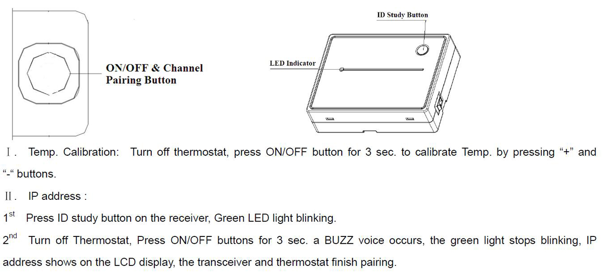 Non Programmable Wireless Radiant Heating Room Thermostat