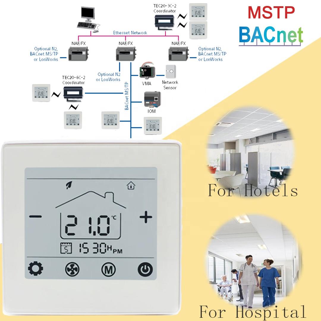 110v   220v Bacnet Internet Fan Coil Thermostat 2 Pipe   4