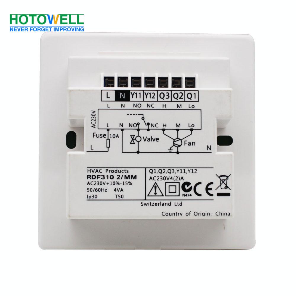 Flush Mounted Rdf310 Series Air Conditioning Temperature
