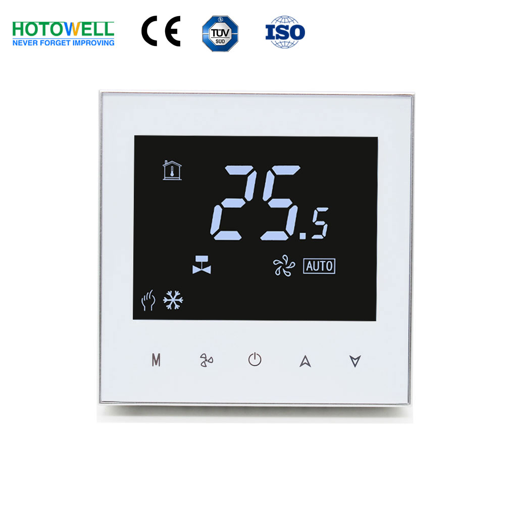 Touch screen NA negative dispaly FCU digital thermostat for air conditioner