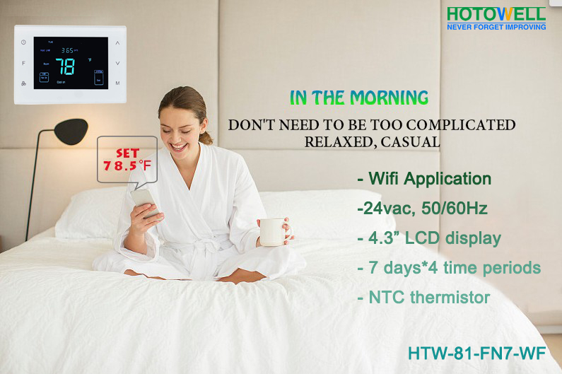 24v multi stage tuya smart life wifi thermostat for heat pump system  hotowell