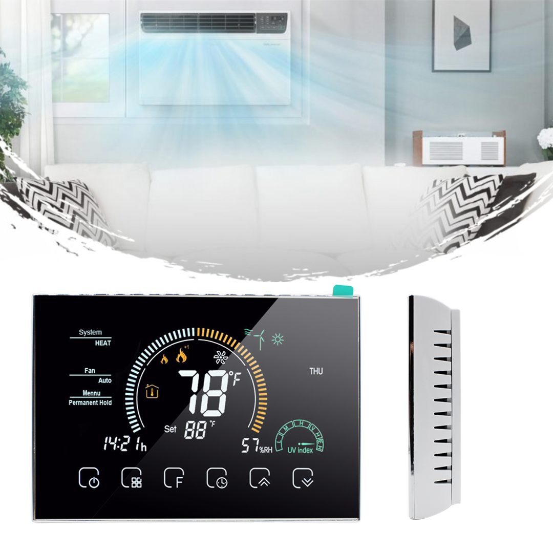 Programmable Thermostat For Heat Pump With Emergency Heat