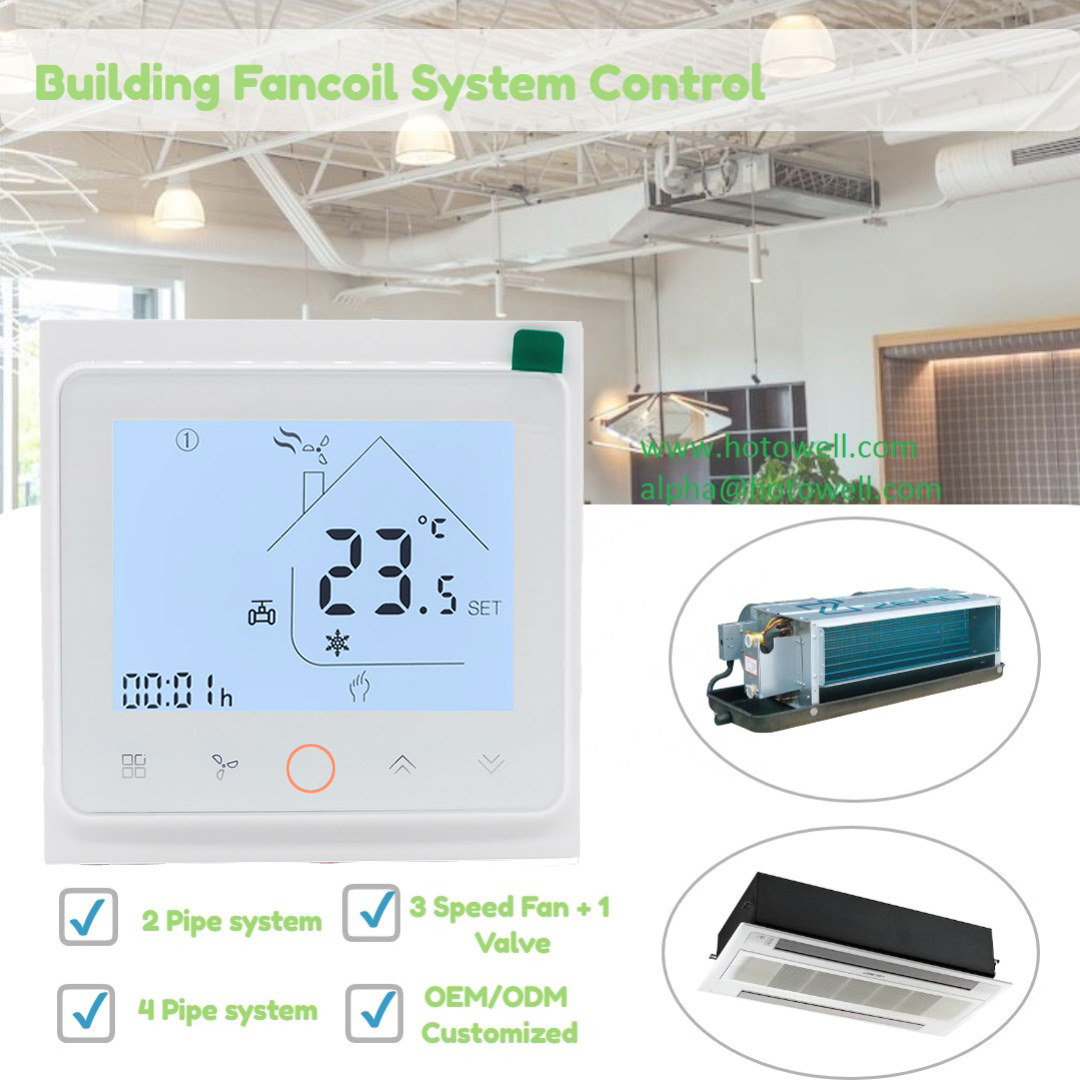 24V Smart Wi-fi Tuya App Thermostat 2 Pipe For Fan Coil Unit