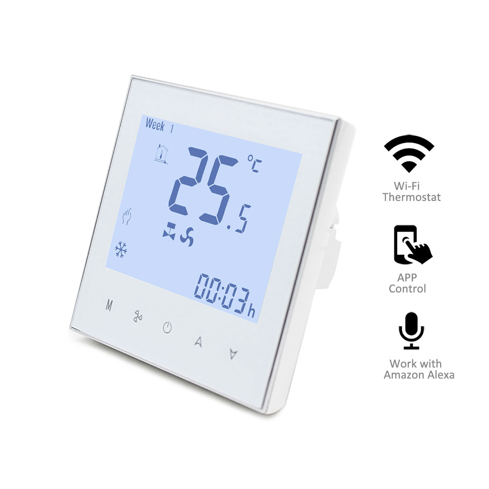 Hvac Digital Large Lcd Touch Screen Rf Programmable Wifi