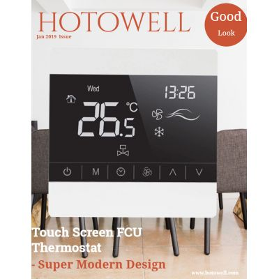 Best Selling Touch Screen FCU Digital Thermostat