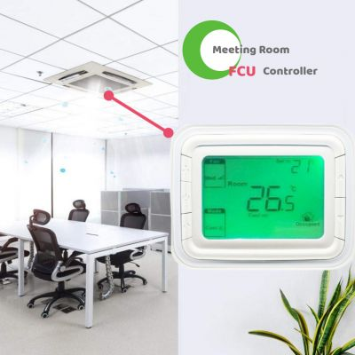 3 Speed Fan Coil Digital Room Thermostat for Air-Conditioning System