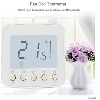 Amazon Hot Selling Air Conditioner Digital Fancoil Room Temperature Thermostat For HVAC System
