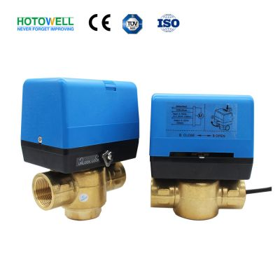 24V 0-10V/4~20mA Modulating water valve electric actuator Motorized solenoid valve For FCU